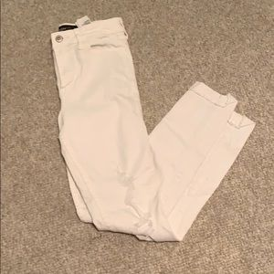 Hollister high rise white jeans